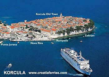 Ferry port Korcula