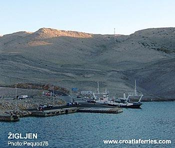 Ferry port Zigljen