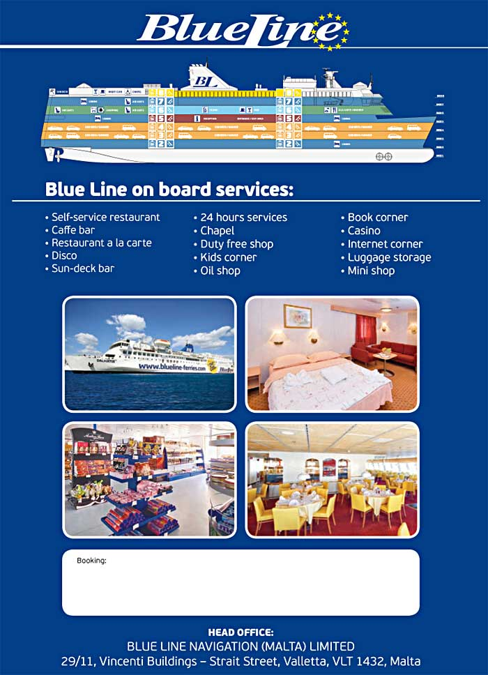 Details about ships and services: