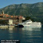 Jadrolinija's Catamaran Novalja ready for departure