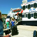 Cyclists Embarking Ferry in Croatia