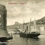 Dubrovnik and 'Epidauro' Steamboat in 1900s