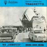 Ancona to Zadar Liburnija Ferry Brochure from 1966