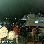 Foot passenger ferry catamaran Dubravka - evening arrival (Photos)