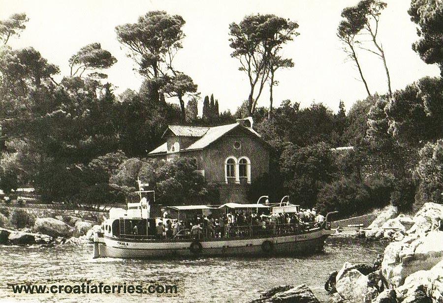 Ferry Boat Skala Portoč bay Lokrum Island