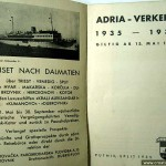Dalmatian Ferry schedules from 1935
