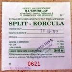 Ferry catamaran ticket Split - Korcula