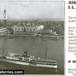 Jadranska Plovidba Venice to Dalmatia advert from 1937