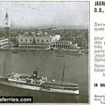 Jadranska Plovidba Venice to Dalmatia advert from 1937
