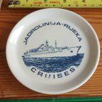 Jadrolinija souvenir plate from 1970s