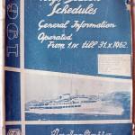 Jadrolinija Ferry Timetable from 1962