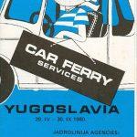 Jadrolinija Car Ferry Services Brochure (1980)