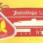 Jadrolinija Luggage Labels from 1970s