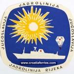 Jadrolinija Luggage Label from 1970s