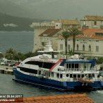 Ferry Catamaran Krilo Star this morning in Korcula