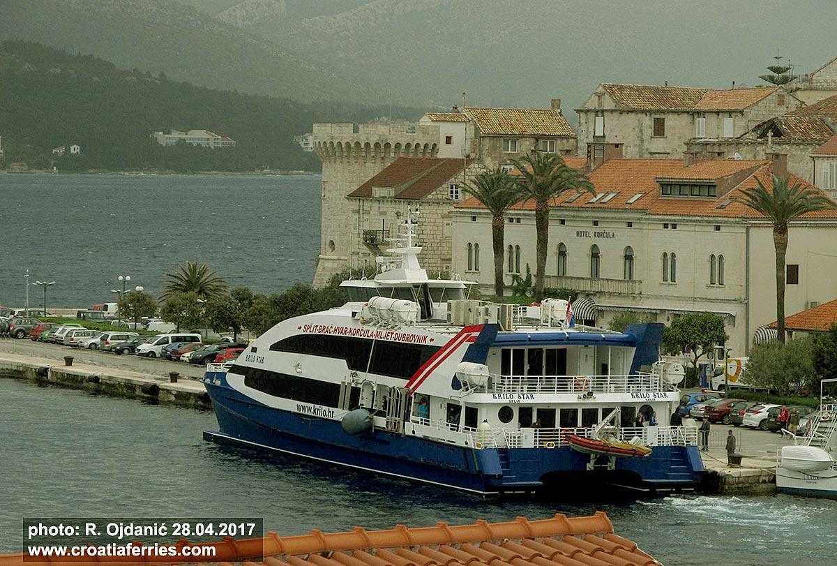 Catamaran Krilo Star in Korcula port
