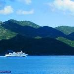Liburnija Ferry passing by Mljet Island