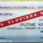 Ferry ticket Korcula - Orebic