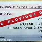 Ferry ticket Korcula - Orebic