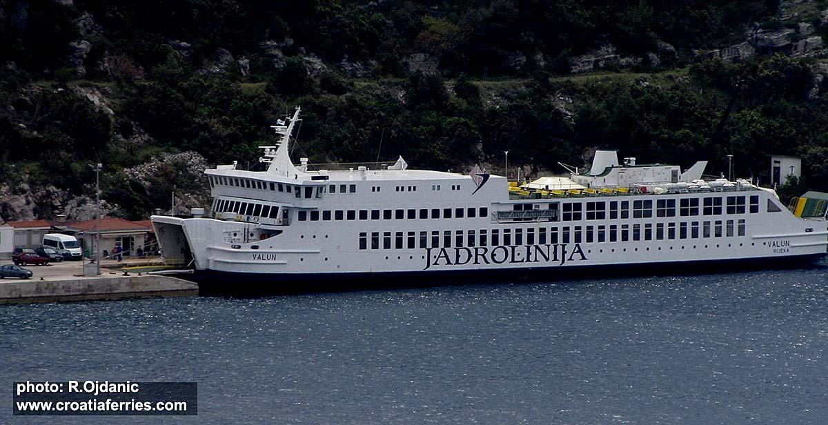 Ferry Valun, Jadrolinija