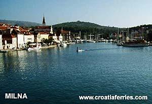 Ferry port Milna (Brac)
