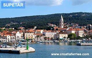 Ferry port Supetar (Brac)