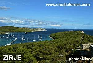 Ferry port Zirje