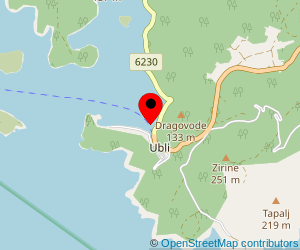 Map of ferry port Ubli (Lastovo)