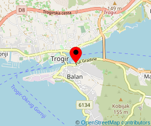 Map of ferry port Trogir