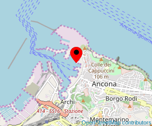 Map of ferry port Ancona