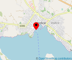 Map of ferry port Vodice