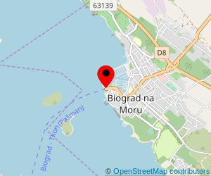Map of ferry port Biograd na Moru