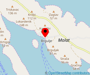 Map of ferry port Brgulje