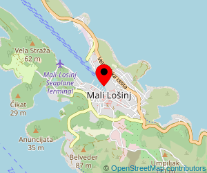 Map of ferry port Mali Losinj