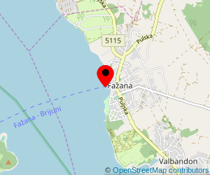 Map of ferry port Fazana