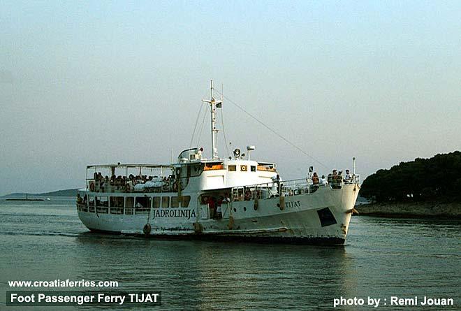 Jadrolinija's foot passenger ferry Tijat