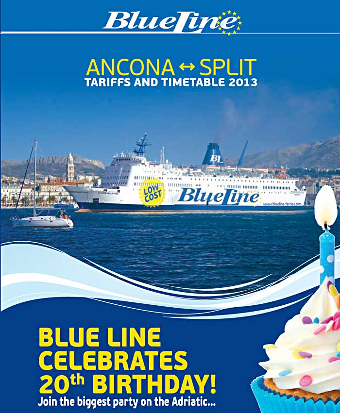 Blue Line Ferries from Ancona to Split: