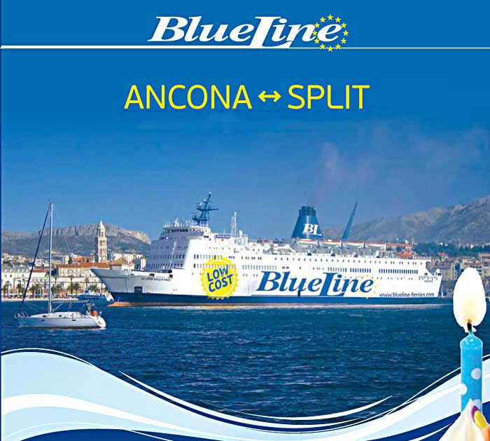 Blue Line Ferries from Ancona to Split (2016)