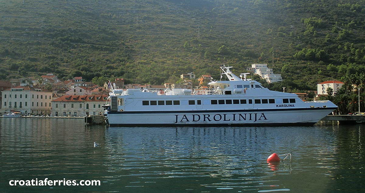 catamaran Karolina in Vis island