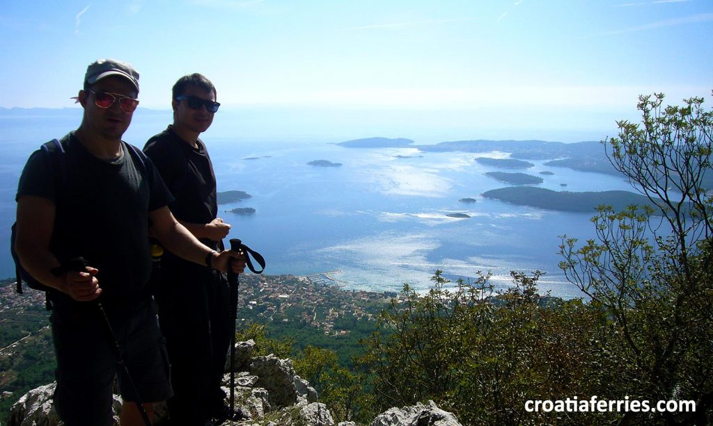 views over Croatian islands from the top of the mountain