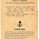 Ferry routes by Dubrovacka Parobrodska Plovidba from 1922