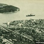 Ferry approaching Dubrovnik Port (1900s)