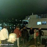 Foot passenger ferry catamaran Dubravka - evening arrival (Photos)