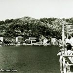 Ferry Arriving in Polace port on Mljet Island (1950s)