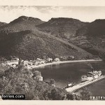 Ferry in Trstenik, Peljesac in 1930s