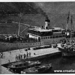 Istra Steamboat in Trpanj port in 1950s