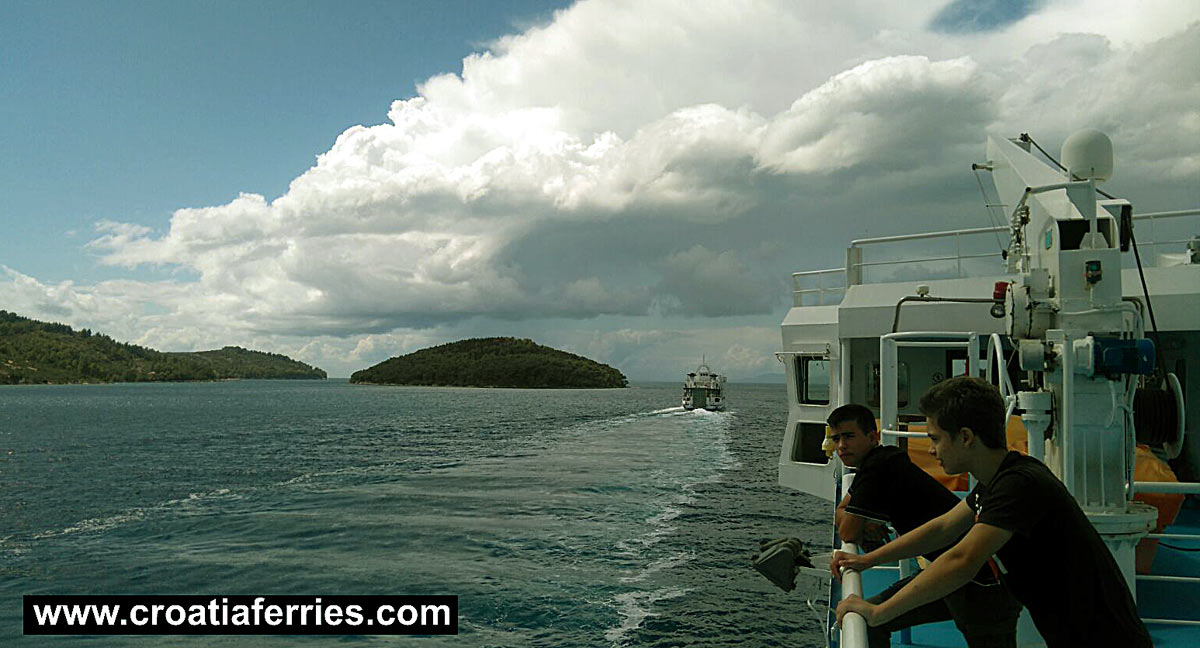 Getting by ferry from Vela Luka to Split
