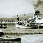 Ferry arriving at Peljesac in 1930s