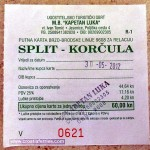 Ferry catamaran ticket Split - Korcula
