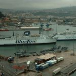 Jadrolinija and Blue Line Ferries in Ancona Ferry Port